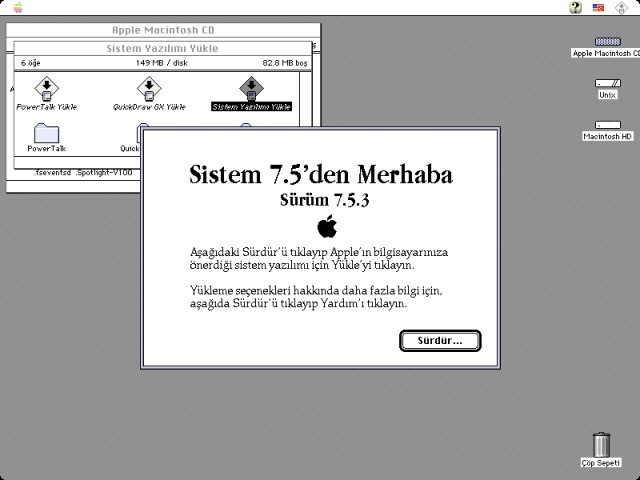Welcome to System 7.5 Installer / Sistem 7.5 Yükleyiciden merhaba