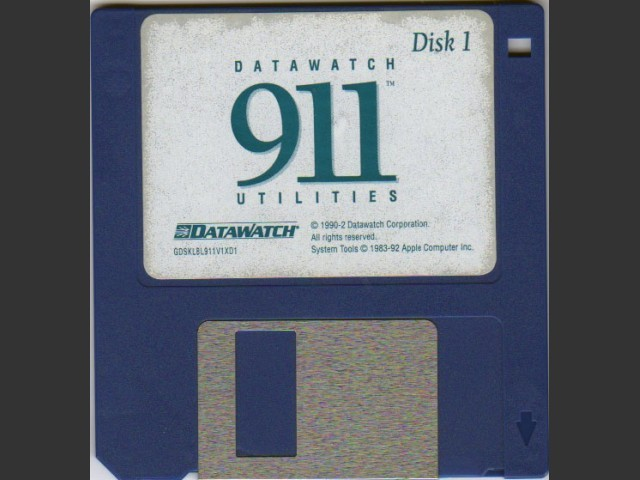 DataWatch 911 Utilities 1.1 (1990)