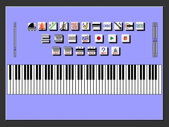 PianoSim user interface