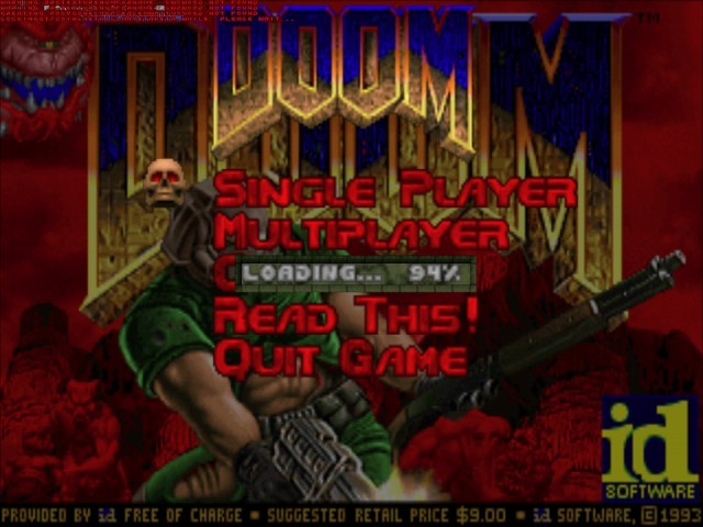 DooM Shareware version. This version is a free demo of the classic DooM.