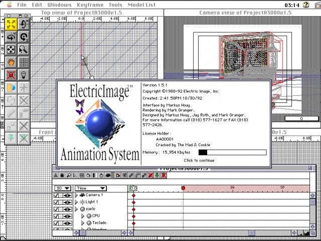 ElectricImage Animation System 1.5.1 (1992)