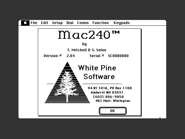 Mac240 v2.04 (1988)
