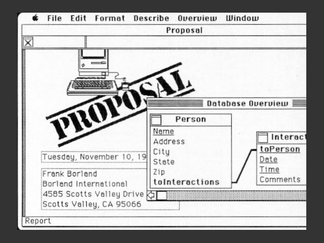 Borland Reflex Plus (1986)