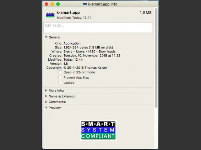 SMART (S.M.A.R.T for Intel cpu) (0)