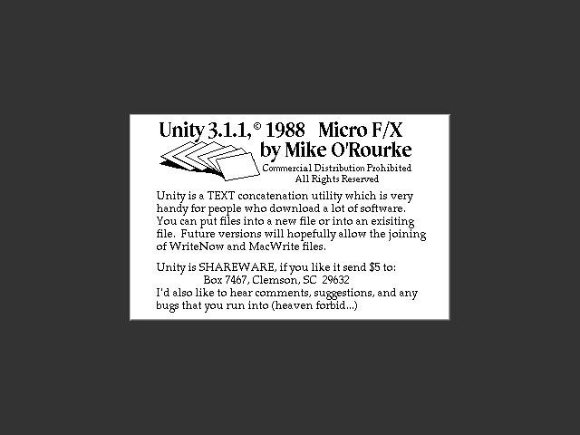 Unity 3.1.1 (1989)