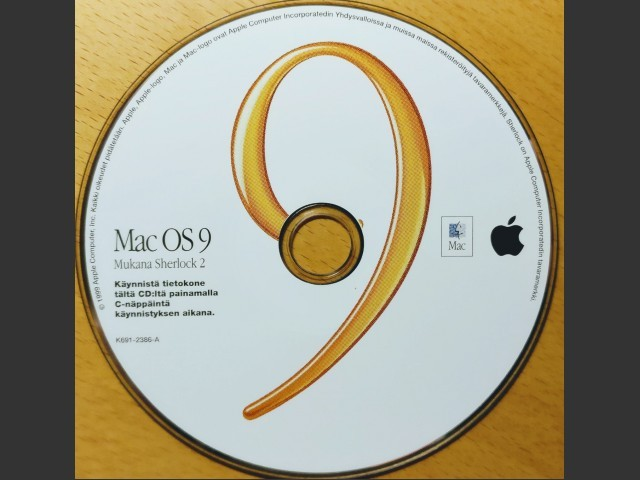 691-2386-A,K,Mac OS 9 Featuring Sherlock 2 [Finnish] (1999)