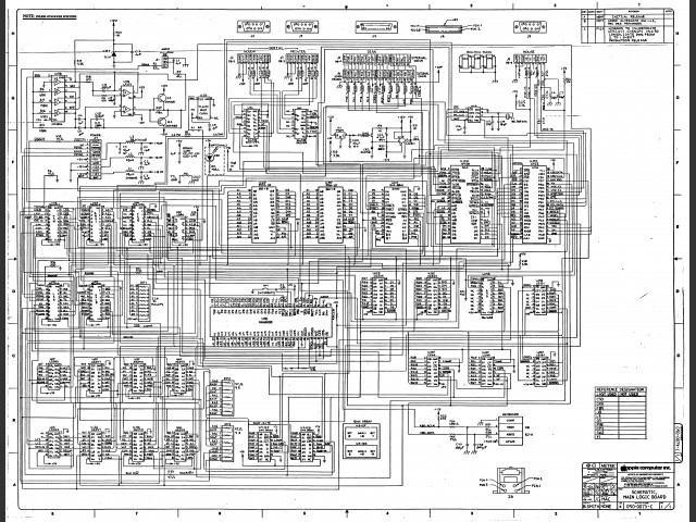 Miscellaneous Apple Schematics (1984)