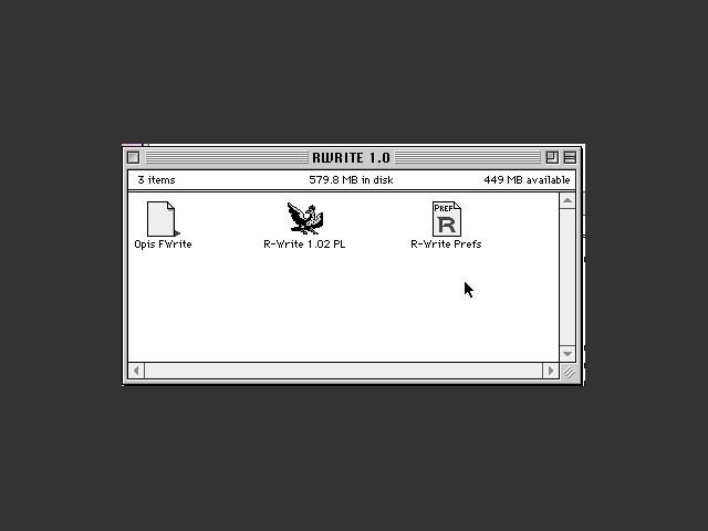 R-Write 1.02b1 PL (1991)