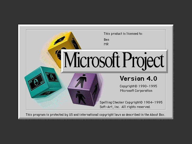 Microsoft Project 4.0 (1995)