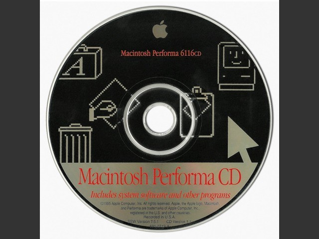 Macintosh Performa 6116cd. SSW v7.5.1 (CD) (1995)
