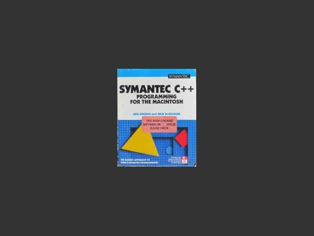 Symantec C++ Programming For The Macintosh (1993)