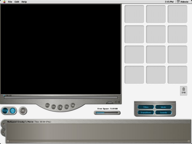 Main interface