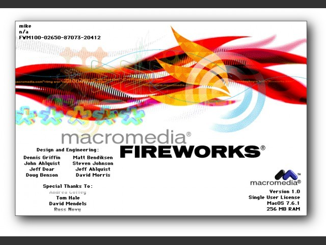 Macromedia Fireworks 1 (1998)