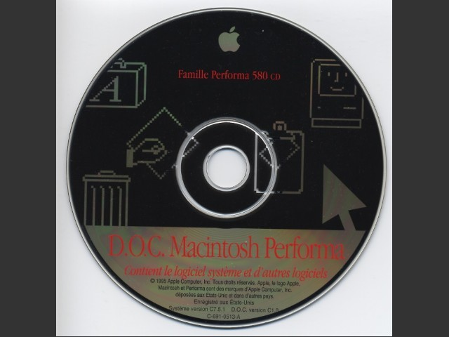 Performa 580 CD Restore Disk (French) (1995)