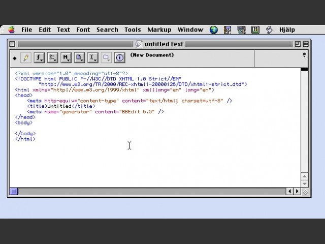 BBEdit 6.5 (2001)