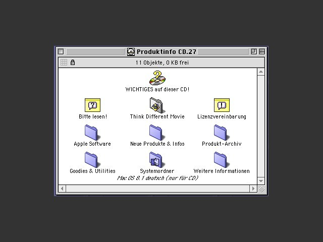 Apple Produktinfo CD 1998-99 (German) (1999)
