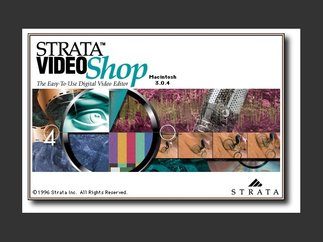 Strata VideoShop 3.0.4 Title Splash