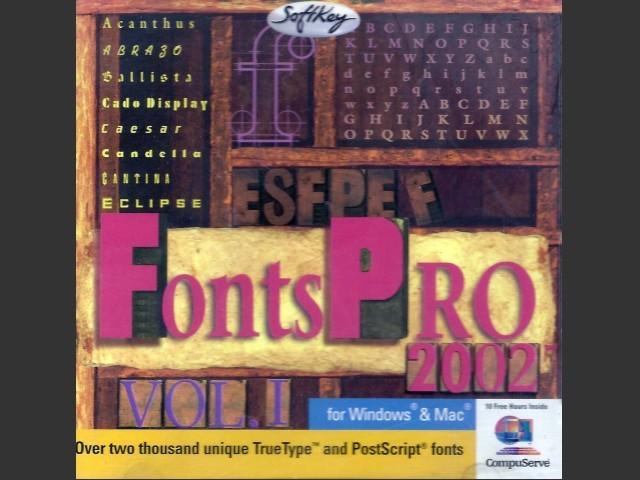 Fonts Pro 2002 (1996)