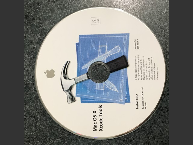 691-4591-A,,Mac OS X Xcode Tools v1 0  Install Disc  Requires Mac OS