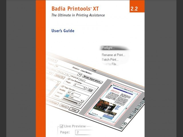 Badia Printools XT for QuarkXPress 4, 5, 6 (2001)