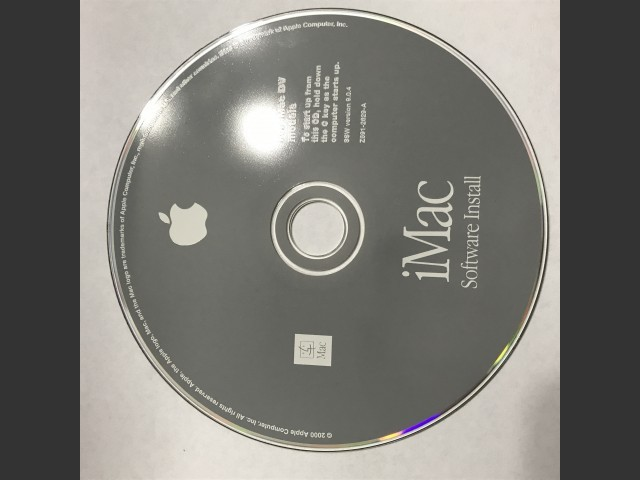 iMac DV. Software Install / Restore. SSW v9.0.4 (CD) (2000)