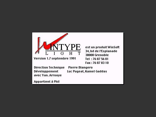 WinType Light (1991)