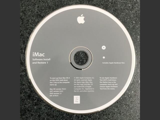691-4778-A,,iMac. Software Install & Restore Mac OS v10.3.1. AHT v2.0.3. Disc v1.1 2003... (2003)