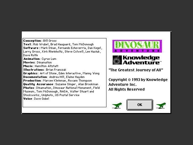 Dinosaur Adventure - Macintosh Repository