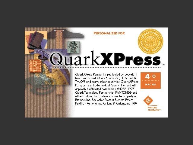 QXP-4 Splash (on Macintosh Centris 660av)