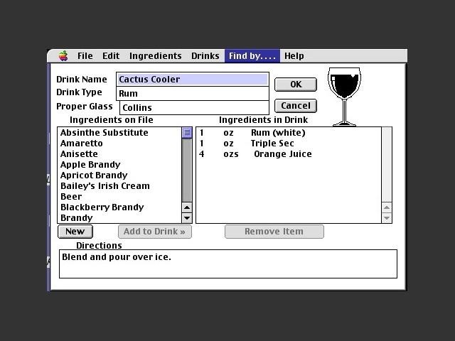 Recipe instructions screen