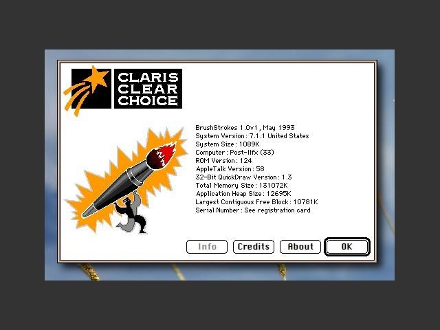 Claris BrushStrokes 1.0v1 (1993)
