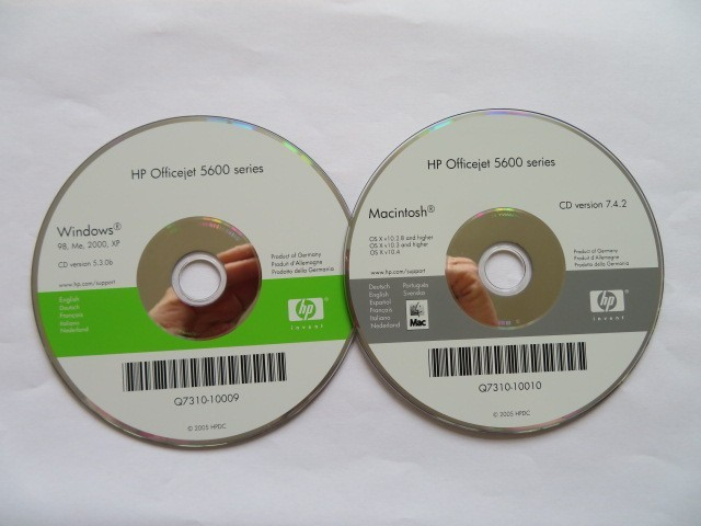 HP OfficeJet 5600 drivers CD-ROM (2005)