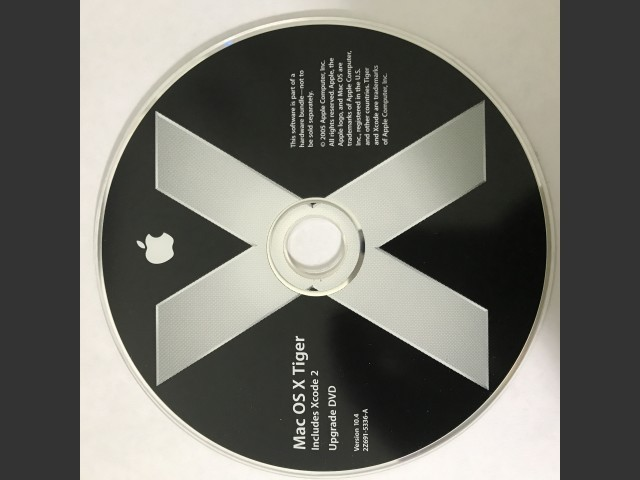 691-5336-A,2Z,Mas OS X v10 4 Tiger  Includes Xcode 2