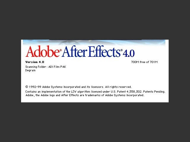 Adobe After Effects 4.x & plug-ins (1999)