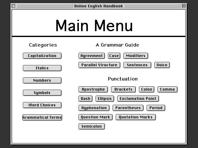 Online English Handbook 1.2 (1995)