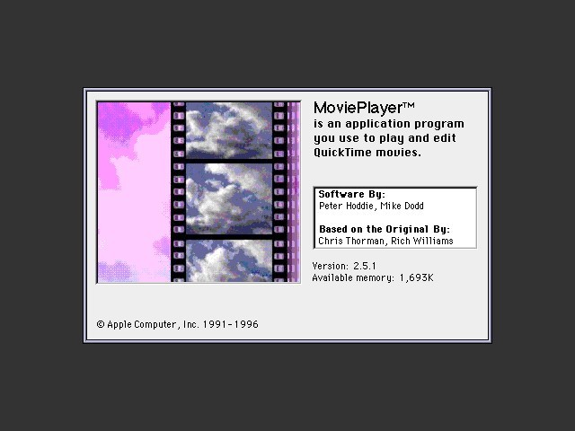 "Movie Player 2.5.1 (""MoviePlayer"") (1991)"