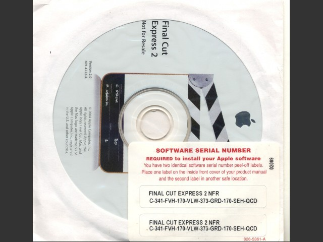 CD with serial numbers