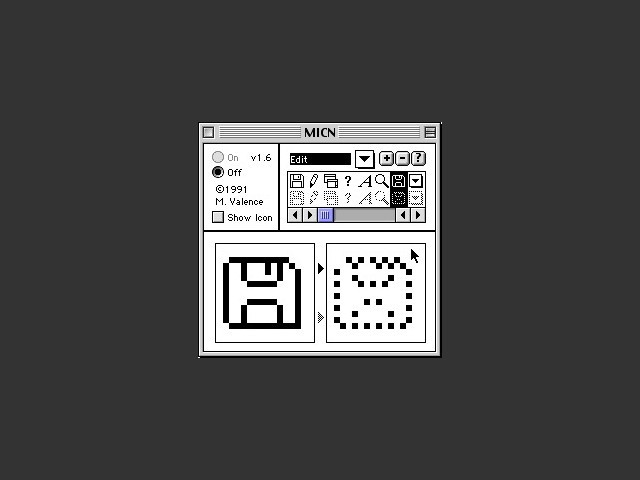 MICN control panel interface