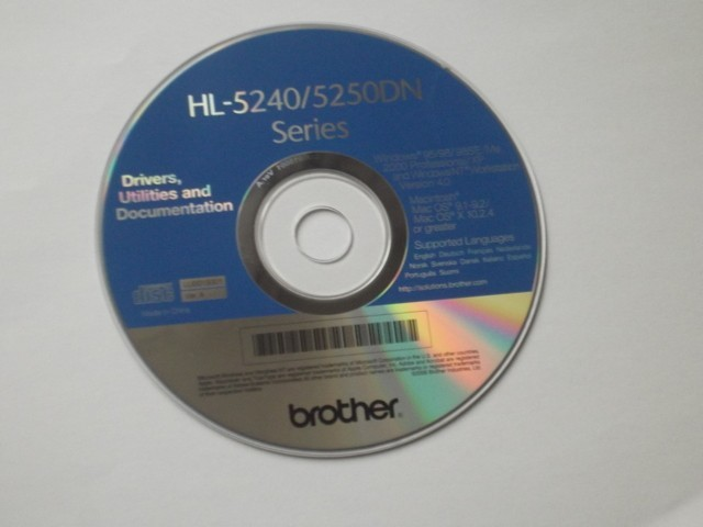 Brother HL5240/HL5250 Drivers CD-ROM (2005)