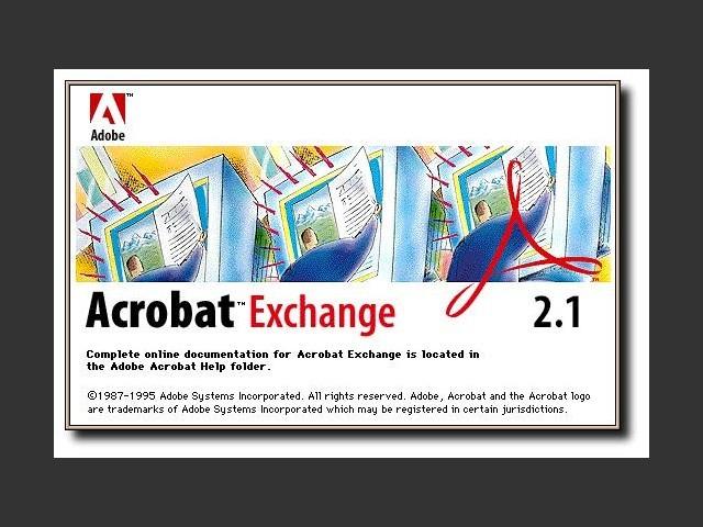 Acrobat Exchange 2.1 splash-screen