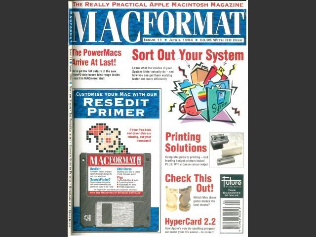 MacFormat 11 Title Page