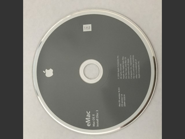 (Missing 691-5231 & another disc) 691-5232-A,2Z,eMac. Mac OS X v10.3.5. Install Disc 3. Disc v1.0... (2004)