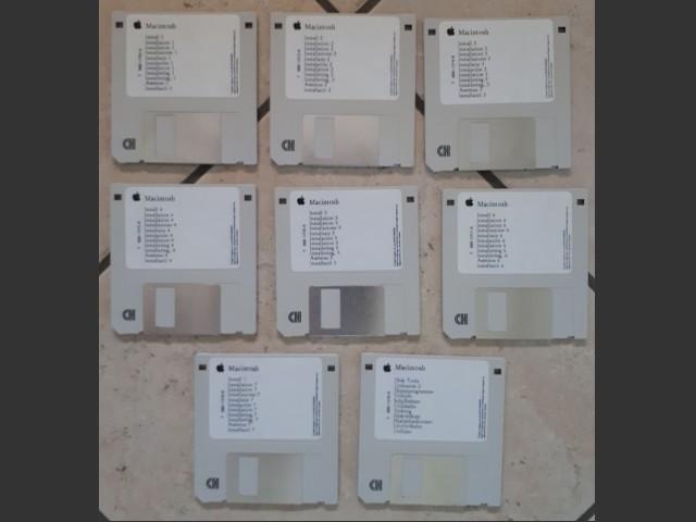 Macintosh System 7.5 Install Disks Italian (1995)