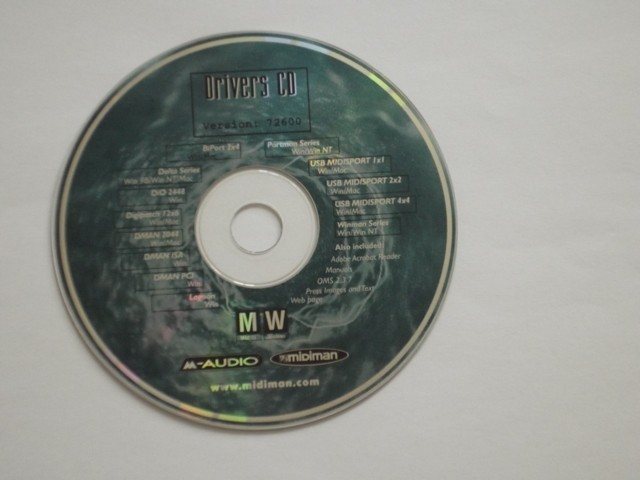 MidiSport drivers CD 07/2000 (2000)