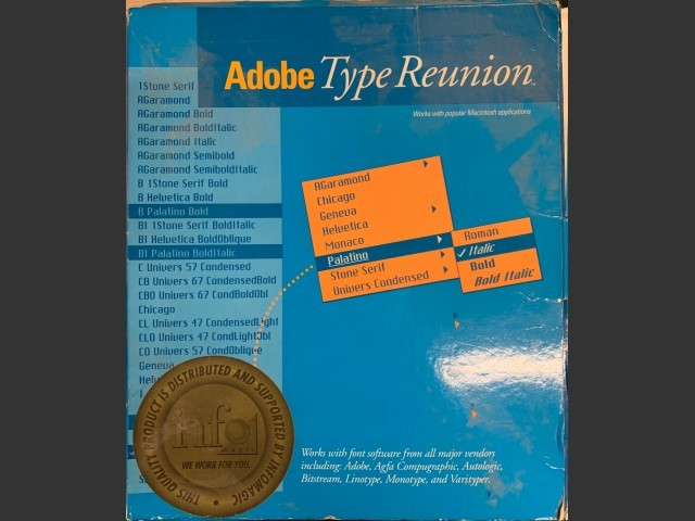 Adobe Type Reunion v1 (1990)