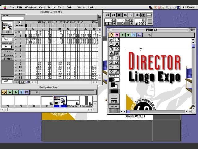 Macromedia Director 4.0.4 interface