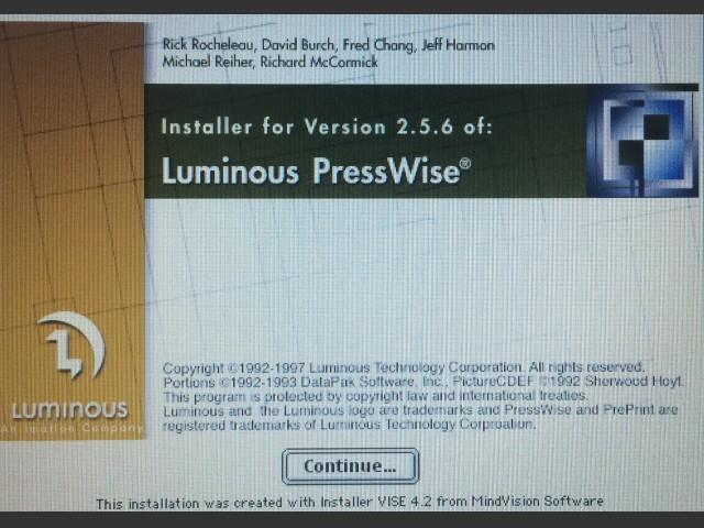 PressWise 2.5.6 + hardware key emu. (1997)
