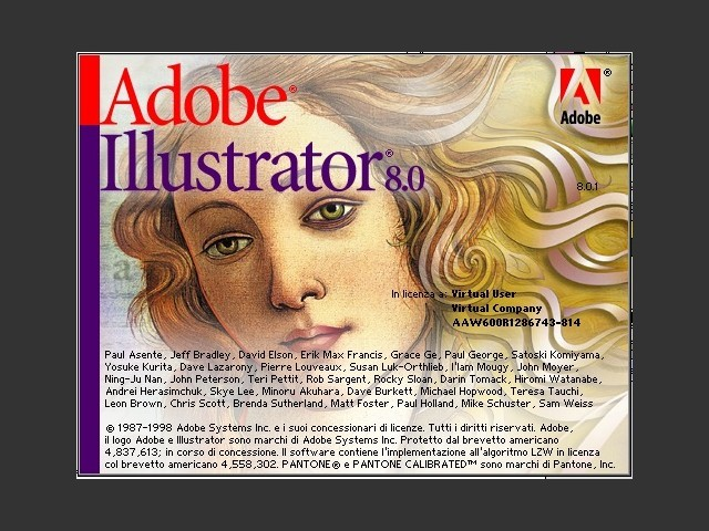 Adobe Illustrator 8.0.1 (1998)