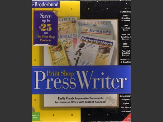 Print Shop: Press Writer (1997)