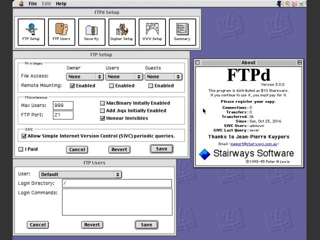 FTPd 3.0 (1995)